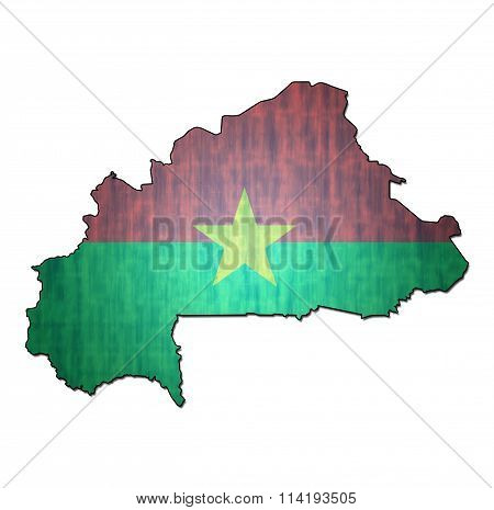 Burkina Faso Territory With Flag