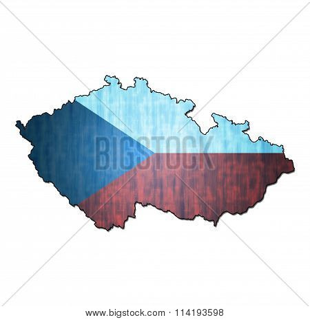 Czechoslovakia Territory With Flag