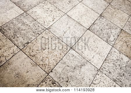 Old Brown Gray Stone Floor Tiling Texture