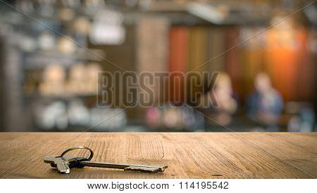 keys on table in a night club
