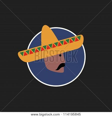 Vector avatar of Mexican man