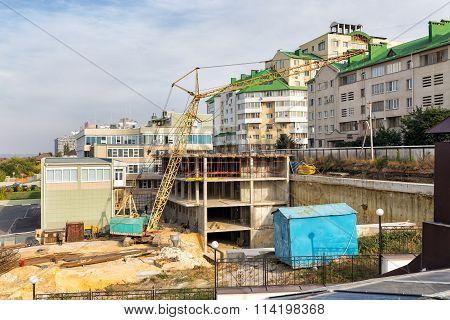 Construction in Belgorod. Russia