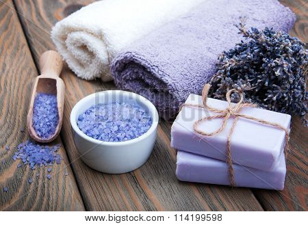 Handmade Lavender Soap And Salt
