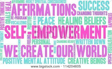 Self Empowerment Word Cloud