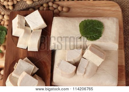 Tofu For Cooking And Soybean Seed.