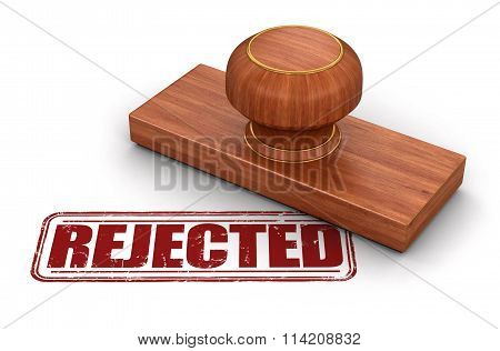 Stamp Rejected.  Image with clipping path