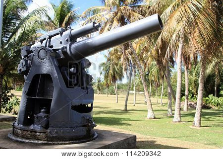 Coast gun in Ga'an Point Guam Micronesia
