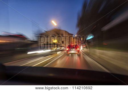 Car Into Traffic