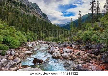 Fleeing Mountain River Flows