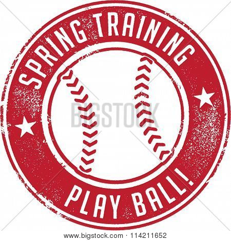 Spring Training Baseball Sport Stamp