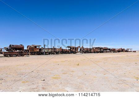Train Cemetery Near Salar De Uyuni, Bolivia