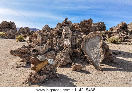 Necropolis In The High Andean Plateau, Bolivia