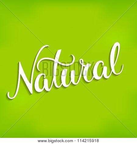 Original Hand Lettering Natural.
