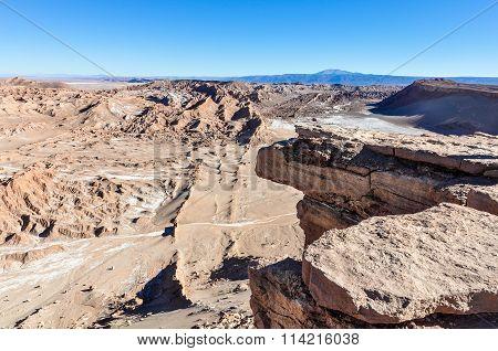 Coyote Rock In The Atacama Desert, Chile
