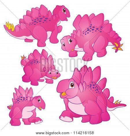 Cute Stegosaurus Pink