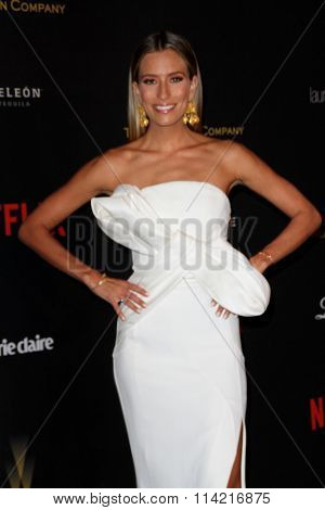 BEVERLY HILLS, CA - JAN. 10: Renee Bargh arrives at the Weinstein Company and Netflix 2016 Golden Globes After Party on Sunday, January 10, 2016 at the Beverly Hilton Hotel in Beverly Hills, CA.