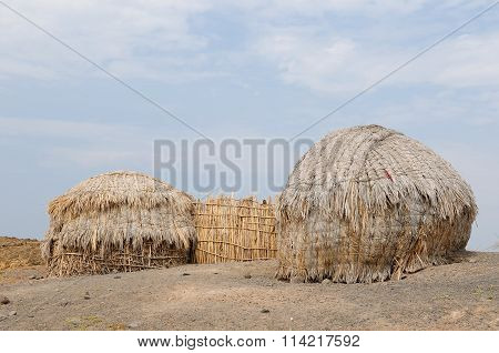 Traditional Round House Of People From The Turkana Tribe