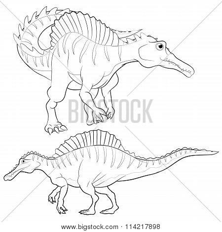 Spinosaurus Lineart