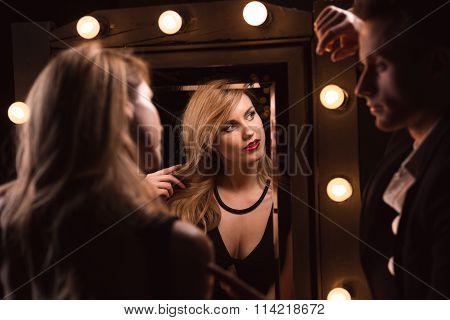 Mirror Reflection Of Elegant Lover