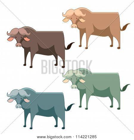 Set of buffalo
