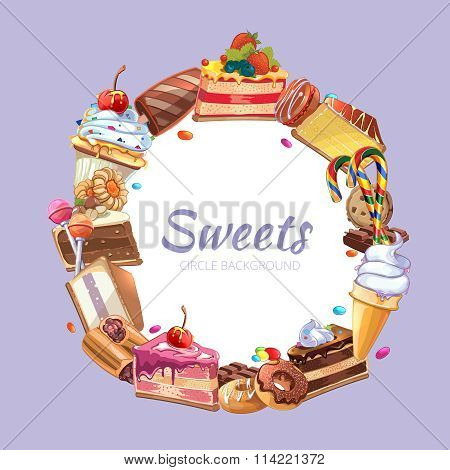 Candy shop vector poster