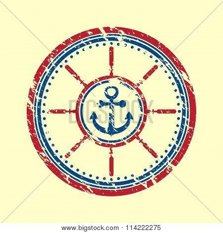 Anchor symbol grunge