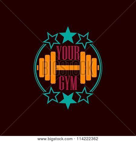Gym symbol background