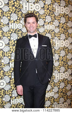 LOS ANGELES - JAN 10:  Andrew Rannells at the HBO Golden Globes After Party 2016 at the Beverly Hilton on January 10, 2016 in Beverly Hills, CA