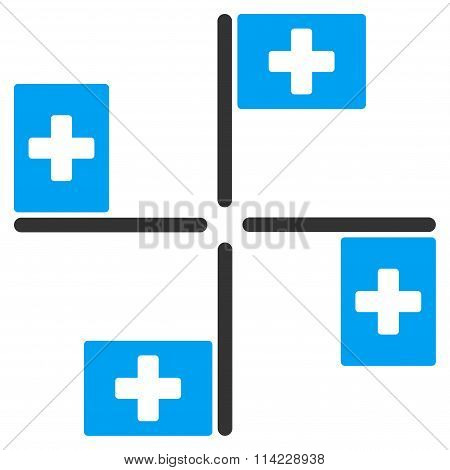 Hospital Flags Icon