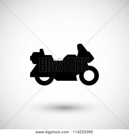 Touring motorcycle icon