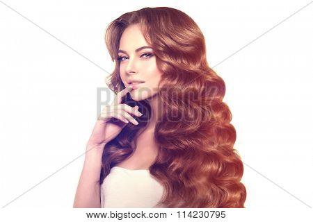 Long hair. Waves Curls Hairstyle.