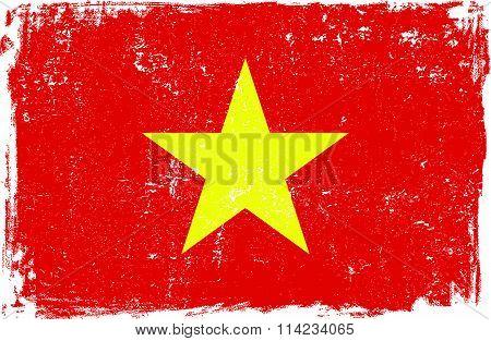 Vietnam Vector Flag on White