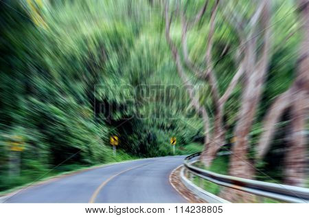 Speed Coner Of Road With Speed Move