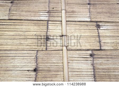 Floor From Bamboo Rattan