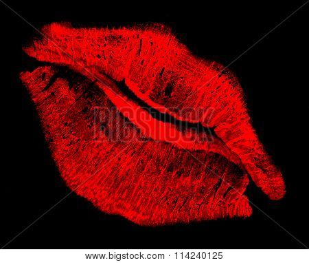 Red Kissing Lips