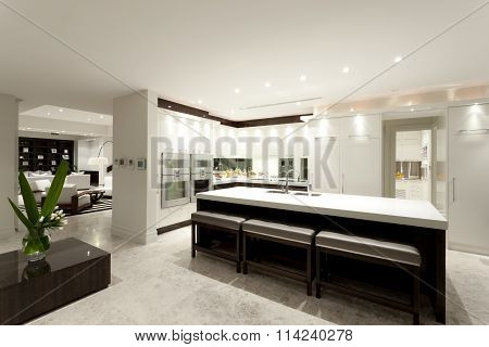 Modern Kitchen With A Big Island