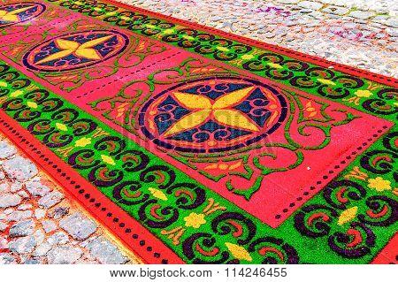 Holy Week Processional Carpet, Antigua, Guatemala