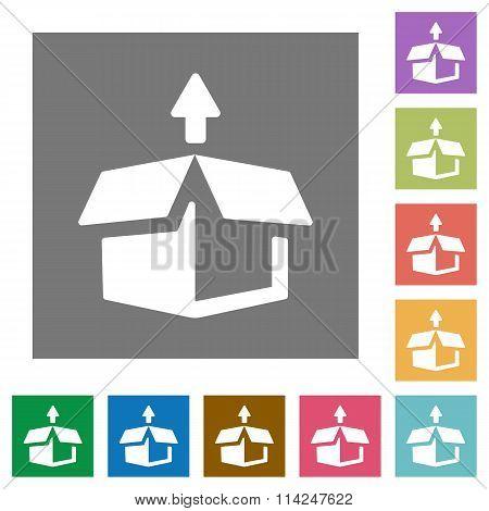 Unpack Square Flat Icons