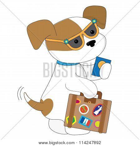 Cute Puppy Travel