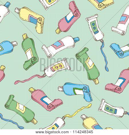 Tubes Seamless Vector Pattern