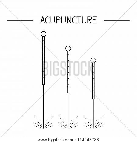 Vector Elements For Acupuncture And Massage, Tcm 01