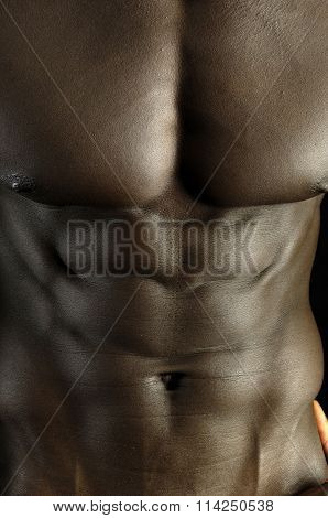 Pectoral of a Muscular African boy