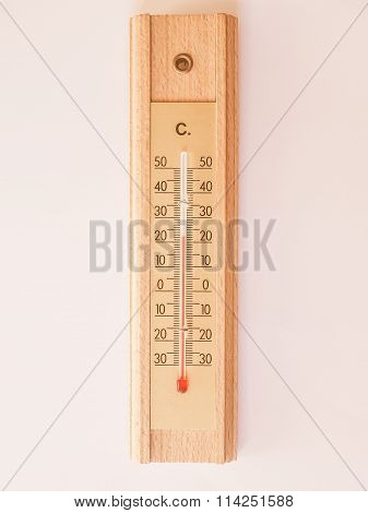 Thermometer For Air Temperature Vintage