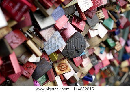 padlocks of loving couples