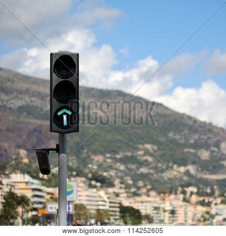 Green Light-signal Of Traffic Light