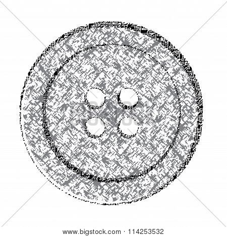 Round Vector Button Sewing Texture With Holes