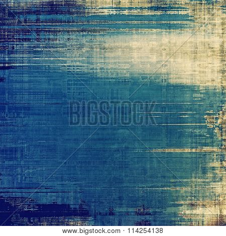 Grunge colorful background or old texture for creative design work. With different color patterns: yellow (beige); brown; blue; cyan
