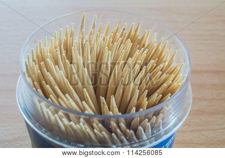 Bamboo Toothpicks Closeup