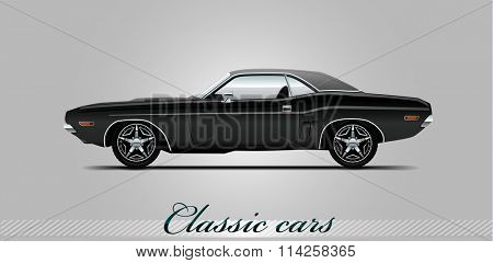NOVI SAD, SERBIA - JANUARY 06, 2016: Vector illustration of Plymouth Barracuda 1970 ,eps10, vector, illustrative editorial - stock vector