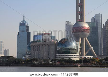 Oriental pearl tower in Shanghai People's Republic of China